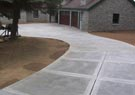 concrete driveways, walkways, and patios