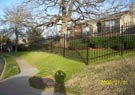 private community wrought iron fence