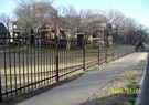 private community iron fence