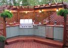 pizza ovens, firepits, outdoor kitchens